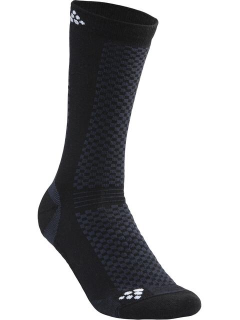 Craft Warm Mid Socks Unisex 2-Pack black/white